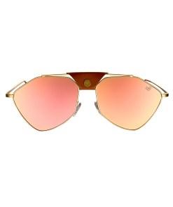 LETEC-LT-5RS - Gold Frame - Rose Gold Mirror Lense + Brown Leather