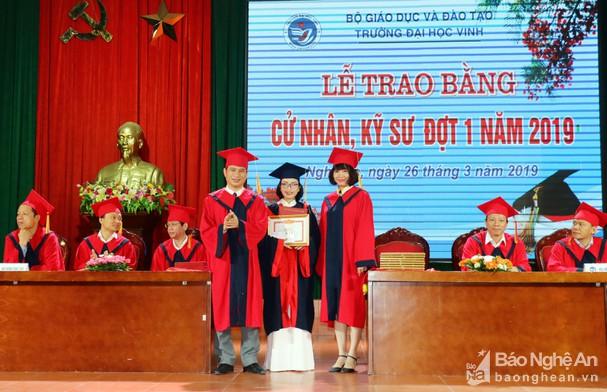 Lễ trao bằng tốt nghiệp Trường Đại học Vinh