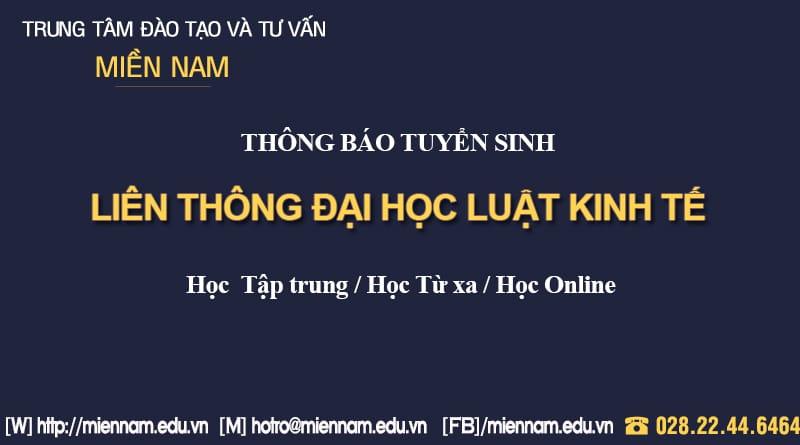 Liên thông Đại học ngành Luật Kinh tế tại TPHCM