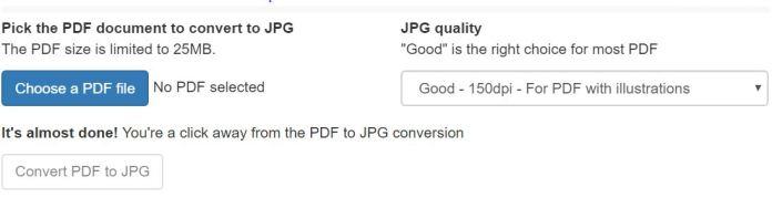 ChọnChoose a PDF fileđể chọn file PDF cần chuyển