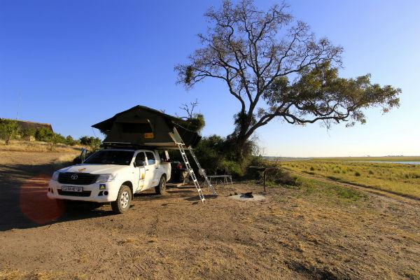African Camping life in Chobe NP bij Ihaha Camp