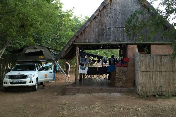 Wasjes draaien op de camping in Botswana is zo gek nog niet