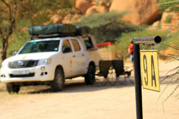 daktent 4x4 safari namibië spitzkoppe