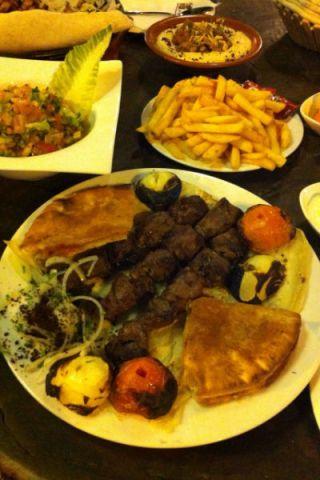 Heerlijke chicken kebab met salade
