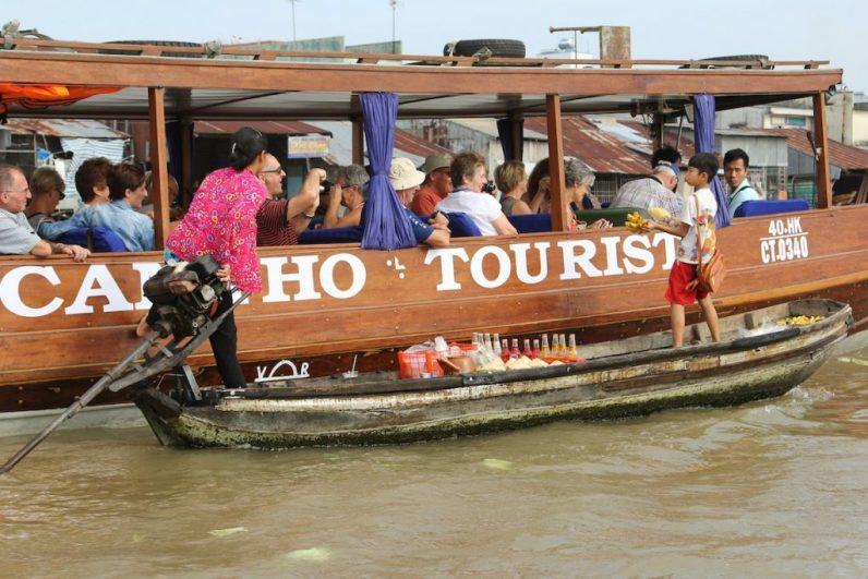 Een van de meest tegenvallende bestemmingen is in vietnam de Mekong Delta Tour