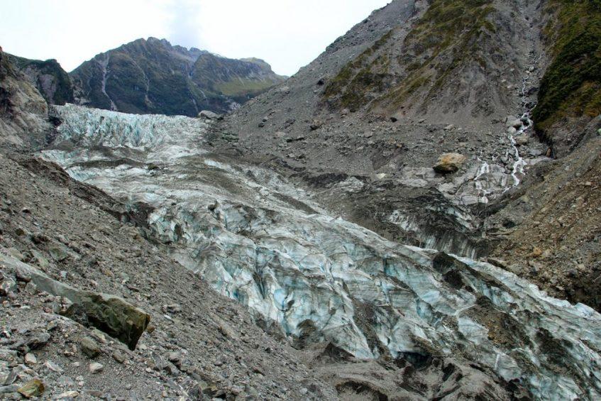 De gletsjers in Nieuw Zeeland stelden me erg teleur