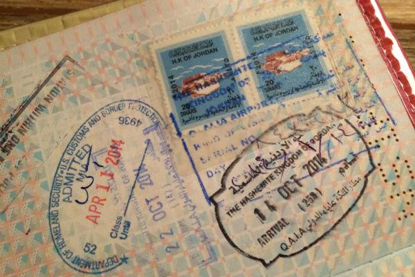Het visum van Jordanie