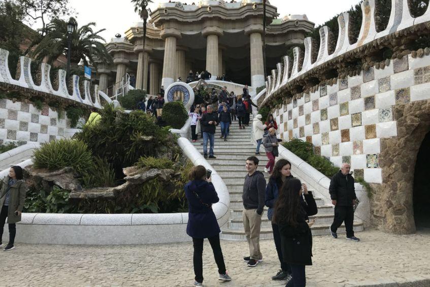 Park Guell Barcelona Spanje