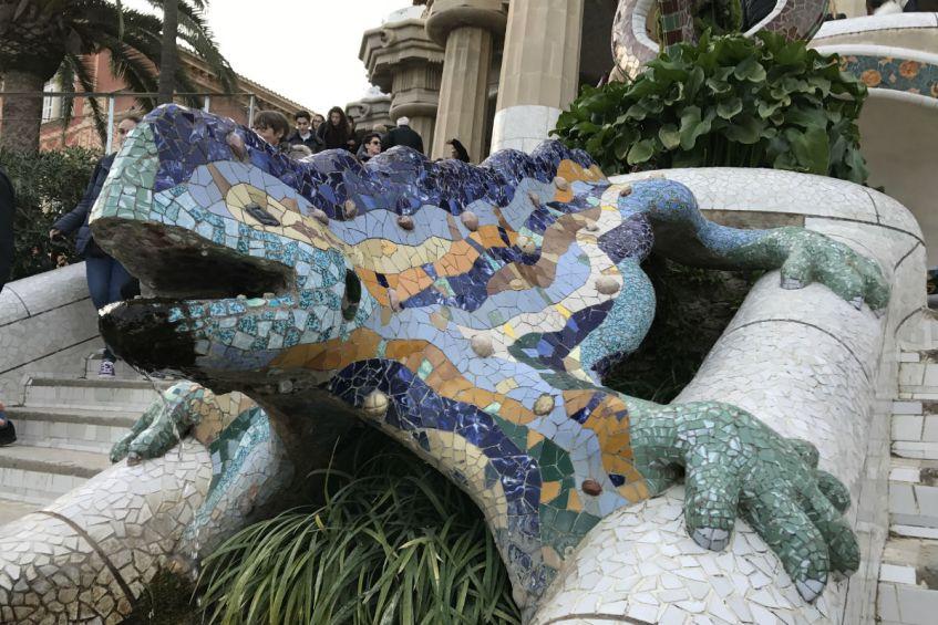 Salamander Park Guell Barcelona Spanje