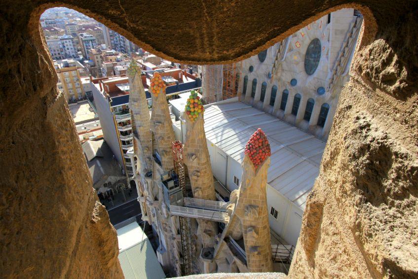 Uitzicht Sagrada Familia Barcelona Spanje