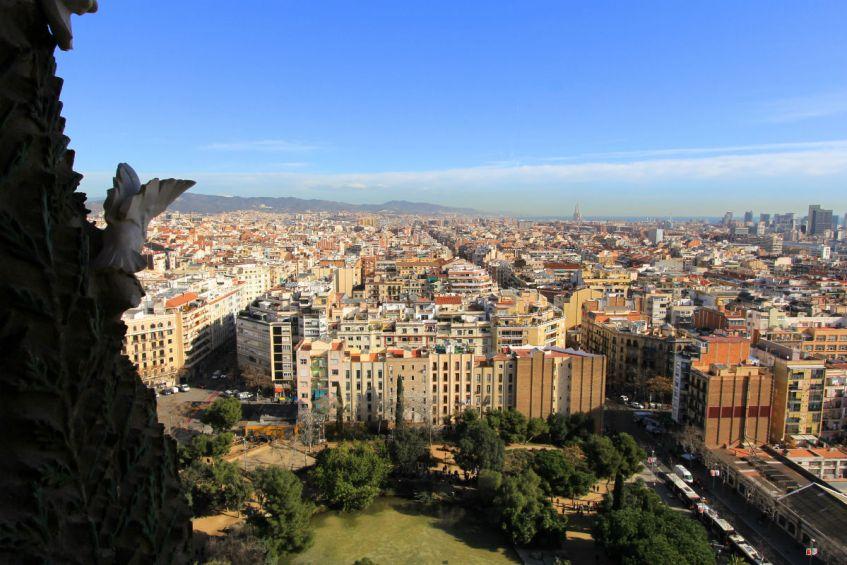 Uitzicht toren Sagrada Familia Barcelona Spanje