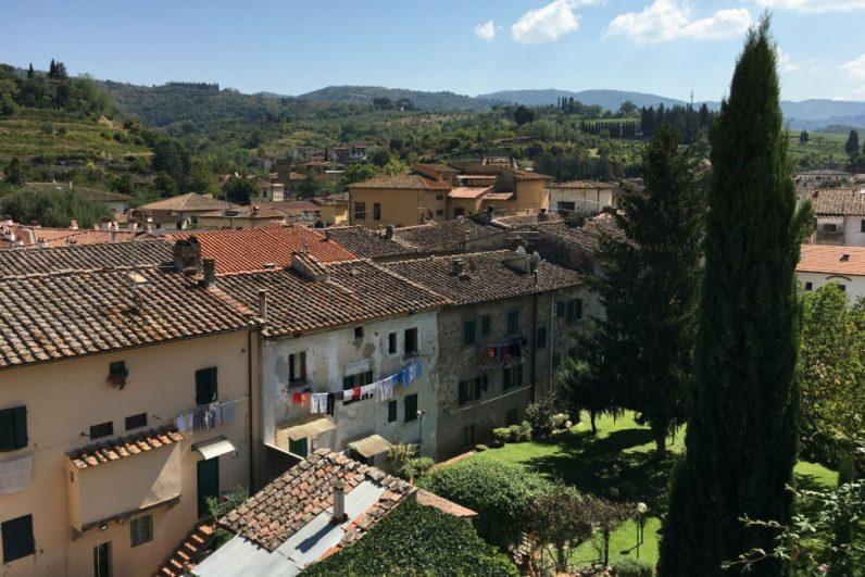 Uitzicht over Greve in Chianti Toscane