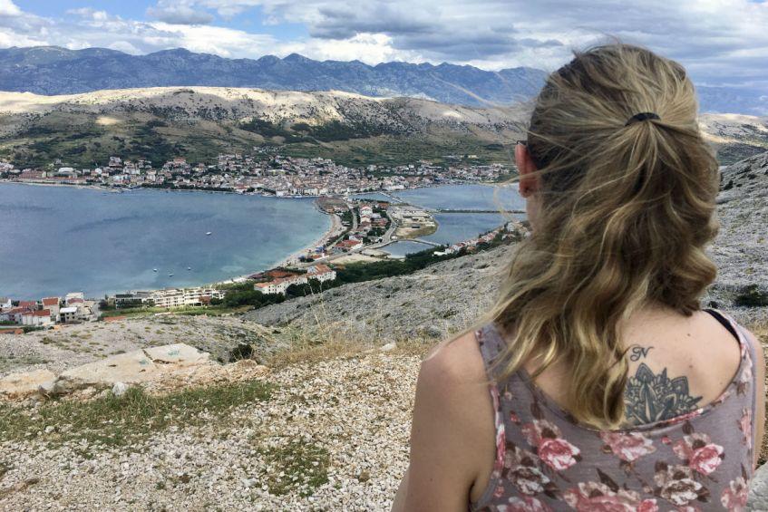 Pag stad tijdens mijn rondreis dalmatie