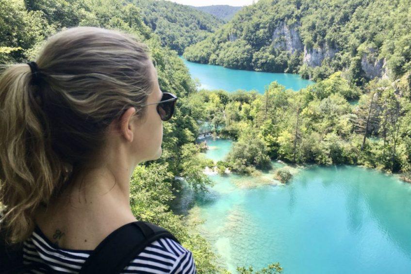 Uitkijken over Plitvice National Park