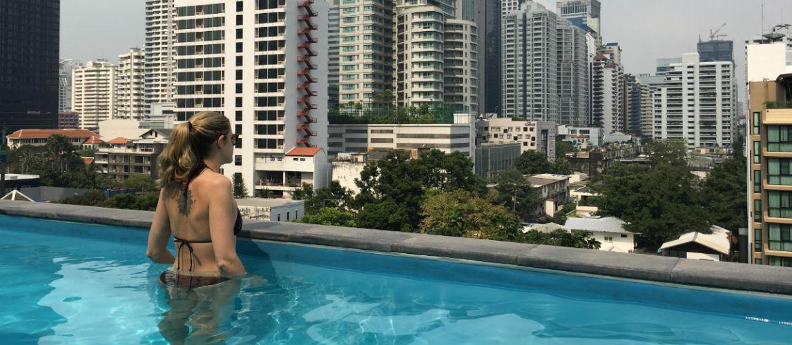 Bangkok uitzicht over de wijk Sukhumvit