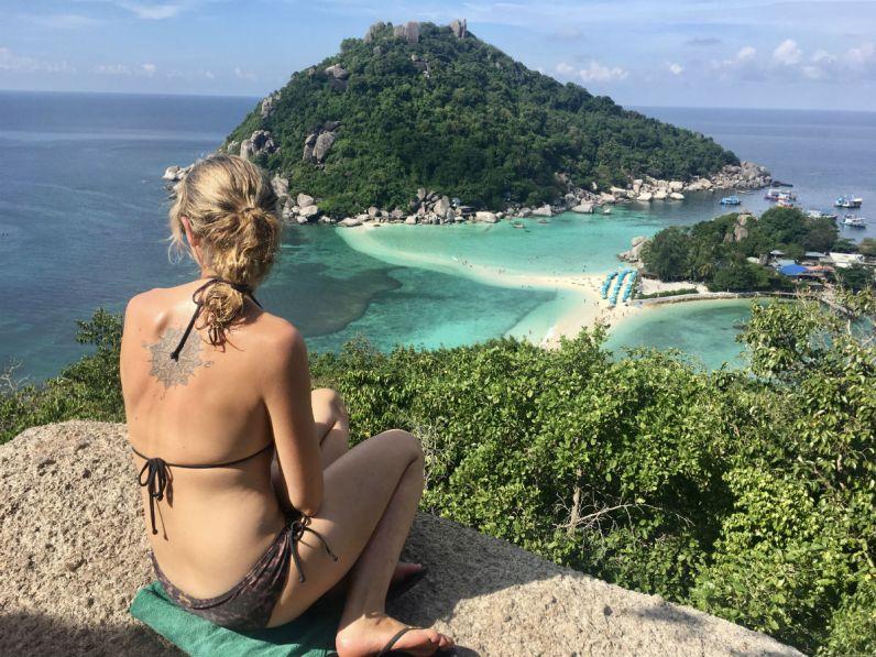 Nang Yuan Island gezien vanaf het viewpoint nabij Koh Tao