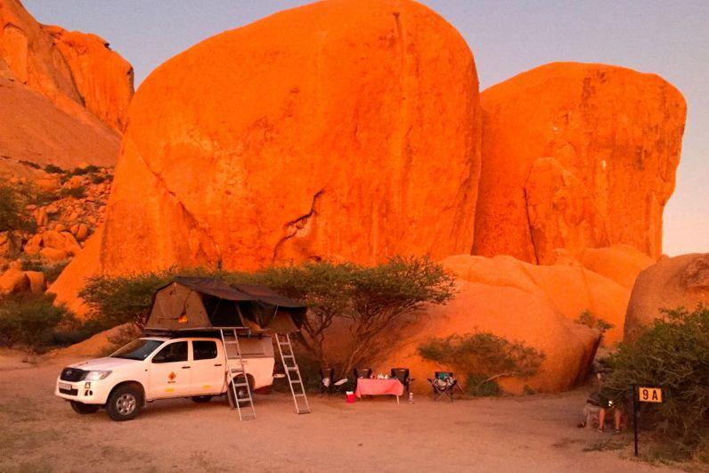 Plekje 9A is de mooiste bij Spitzkoppe tijdens je reis door namibie en botswana