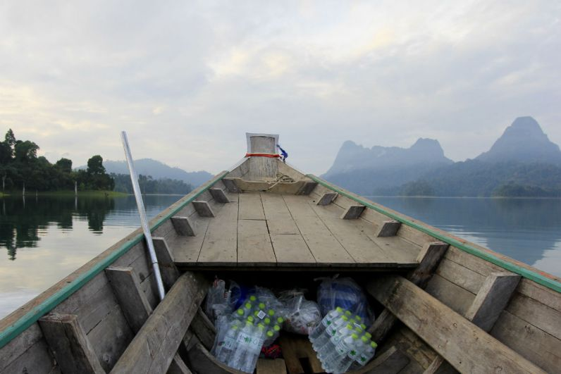 Reisdagboek met de longtailboot door Khao Sok National Park