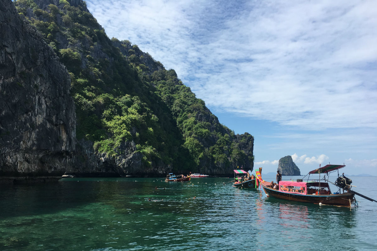 Snorkeltour langs de four islands bij Koh Lanta Thailand