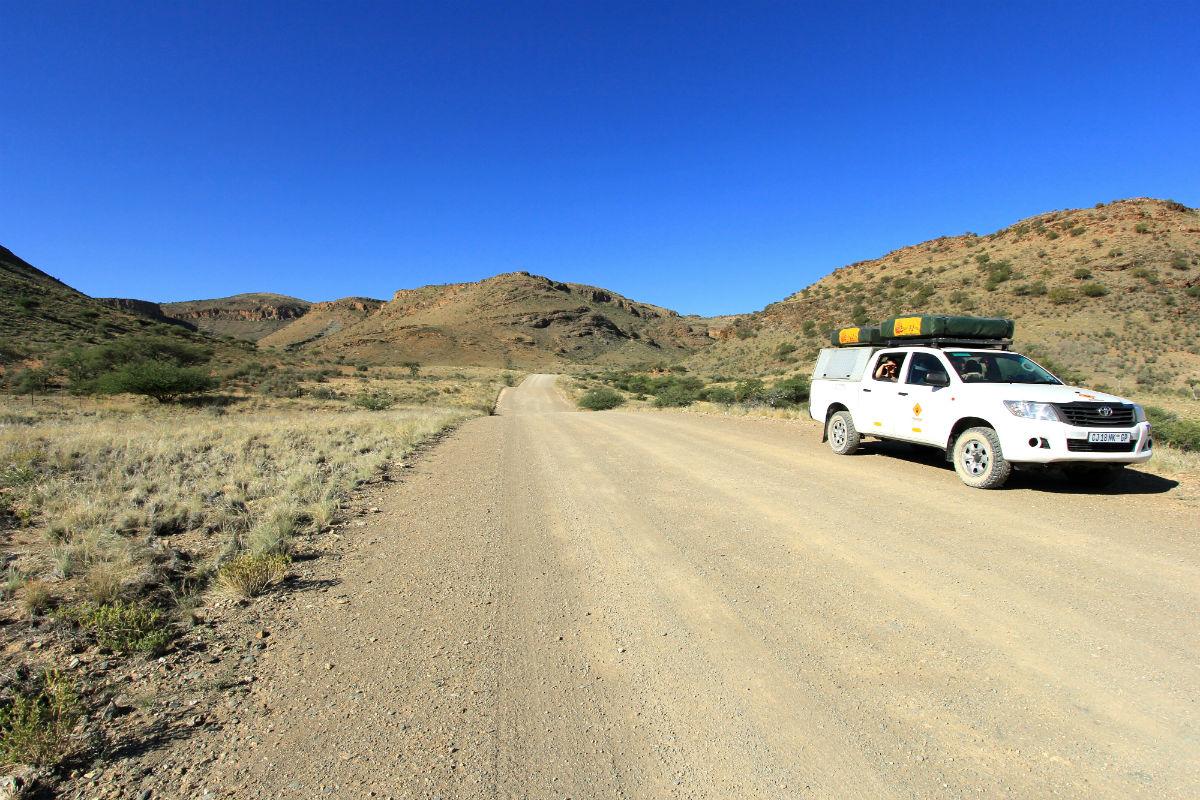 Route Namibie neemt je van Windhoek naar de Sossusvlei met de 4x4 met daktent