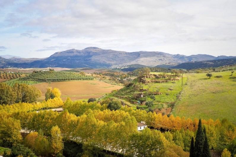 De natuur is prachtig tijdens je mooie roadtrip door Andalusie