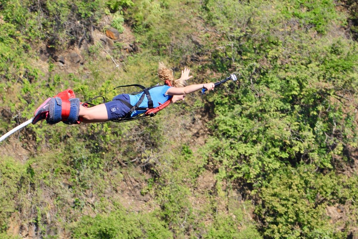 Ga bungeejumpen bij de Victoria Falls