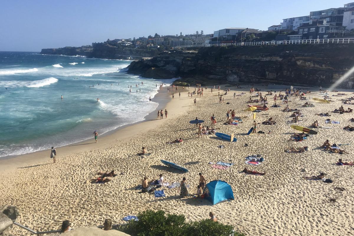 Leven in Sydney bezoek Tamarama Beach