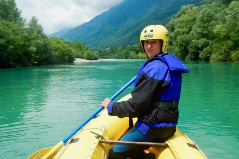 Raften op in de Soca Valley in Slovenie