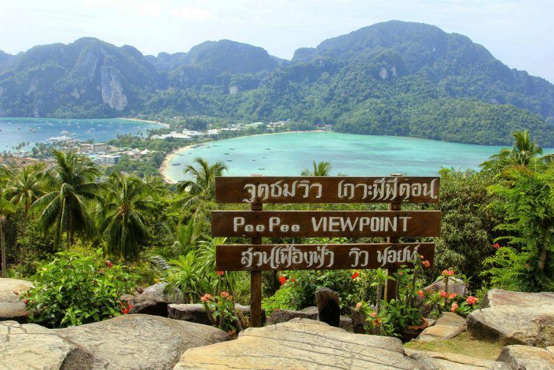 Thailand bezoeken Koh Phi Phi heeft parelwitte stranden