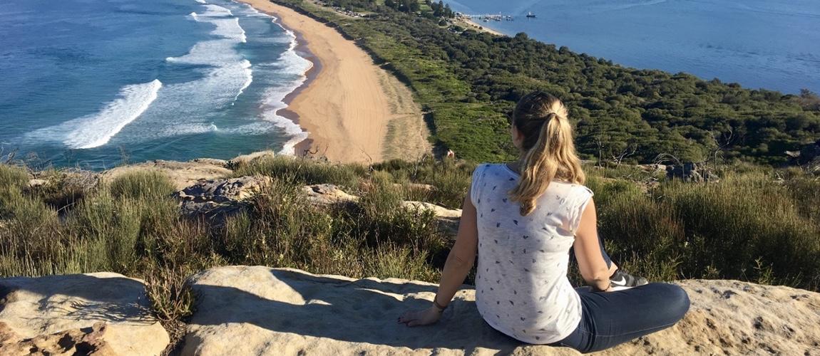Als je Palm Beach bezoekt loop dan zeker naar de top van de heuvel naar de vuurtoren en geniet van dit uitzicht tijdens de winter in Sydney