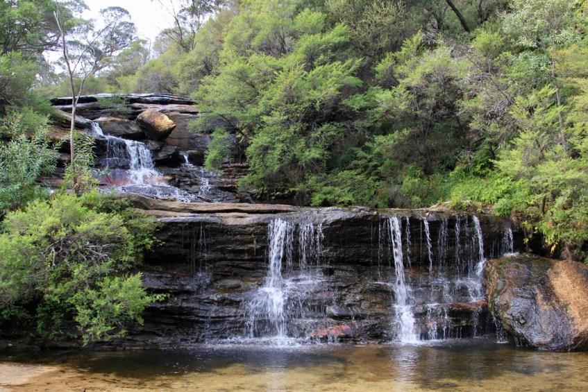 Bij de Blue Mountains vind je ook prachtige watervallen