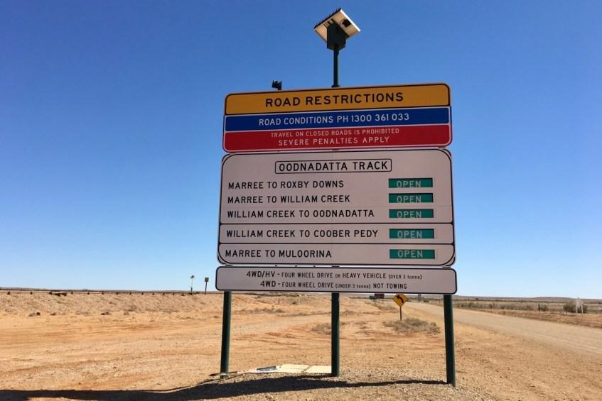 De Oodnadatta Track is echt een gaaf 4x4 track door de outback van Zuid Australië