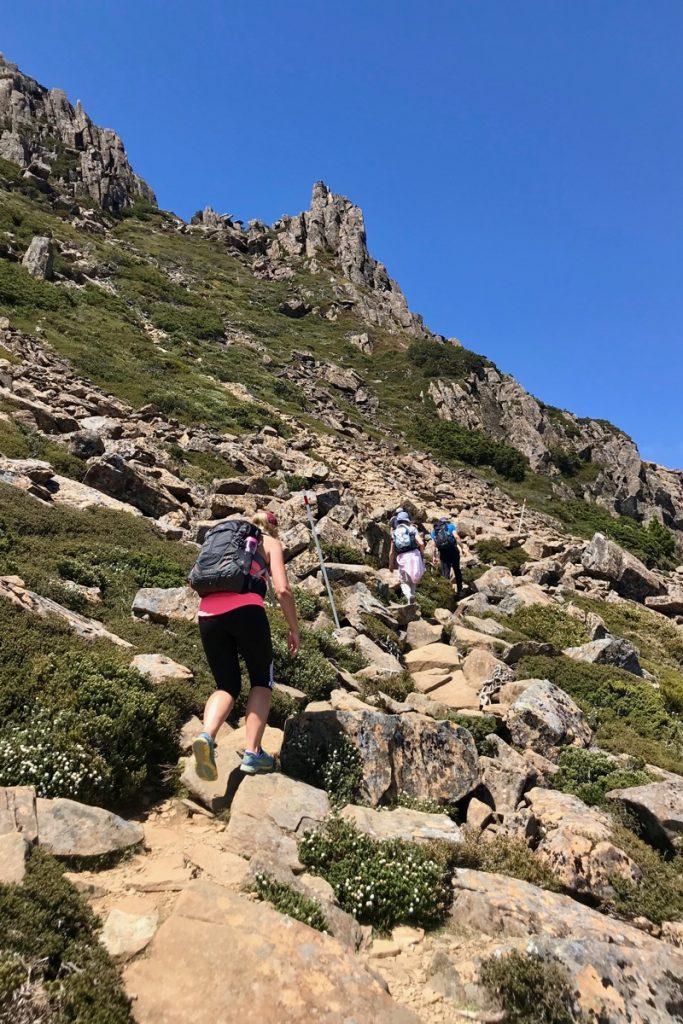De hike in Cradle Mountain was een hele zware wandeling in Australië maar ook een van de mooiste