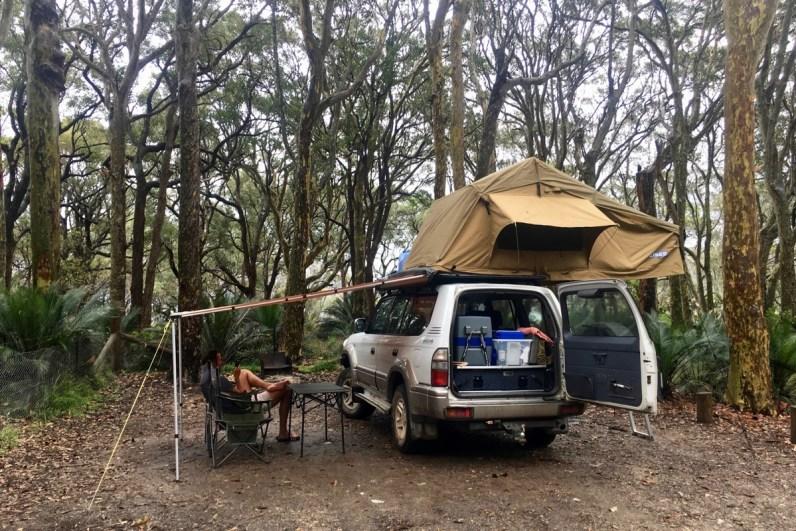 Onze Landcruiser Prado waar we Australie mee ontdekken
