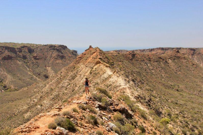 De Knife Edge Walk is de moeite waard in Exmouth en een mooie wandelroute in Australië.