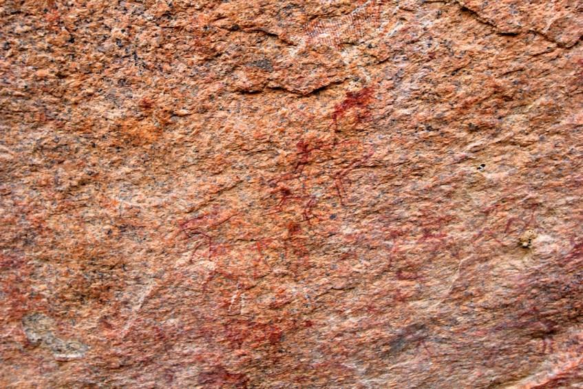 Bijzondere rotstekeningen in Spitzkoppe Namibie