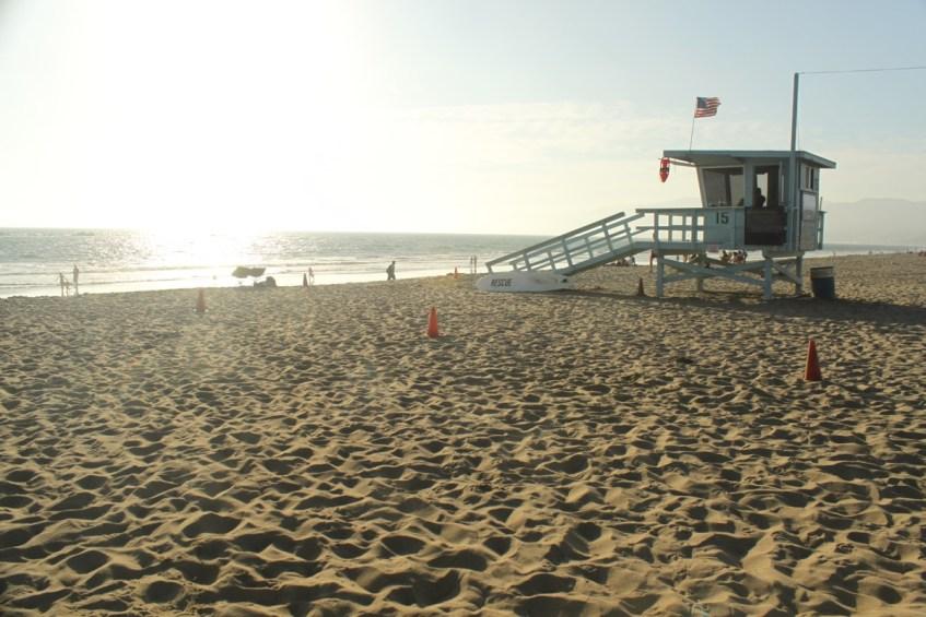 Santa Monica Beach is fijn om tijdens je route West-Amerika te bezoeken