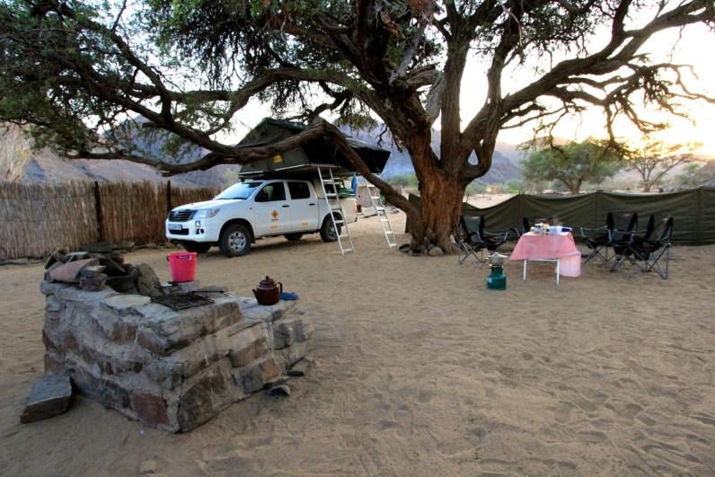 Ugab Rhino Camp is een bijzondere camping in Namibië