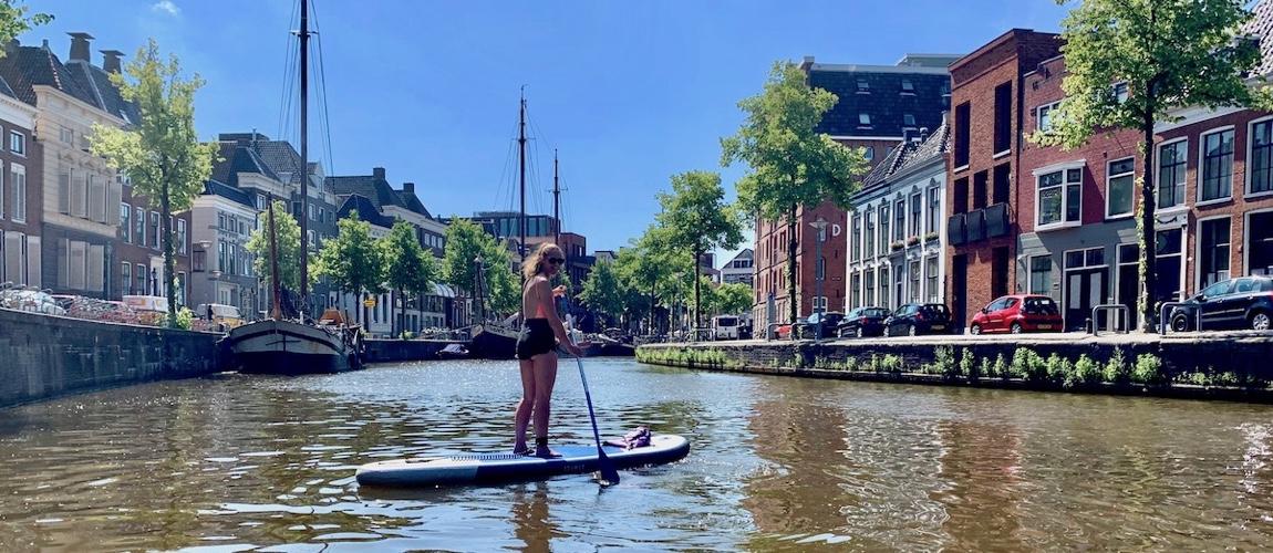 Suppen in Groningen door de grachten