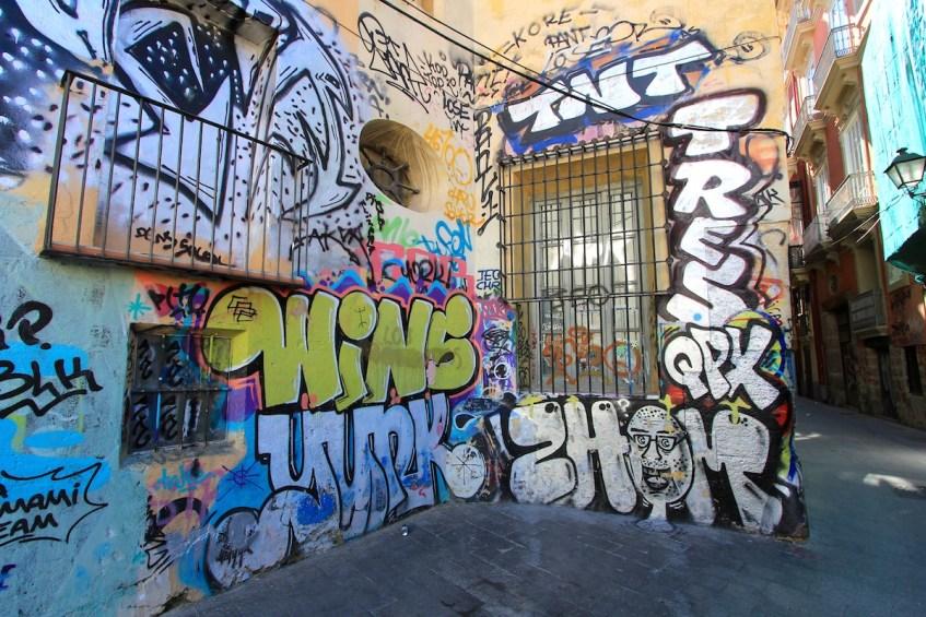 Een van de highlights in Valencia is de toffe street art die je overal in de stad vindt