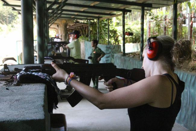 Shooting an AK47