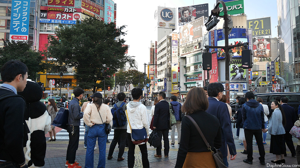 Walking to Shibuya Crossing