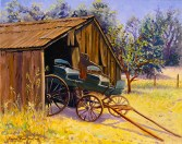 """Blacksmith's Wagon in Old Cordelia, 1881"" by Daphne Wynne Nixon, 2005"