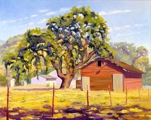 """""""The Oak by the Red Barn"""" by Daphne Wynne Nixon"""