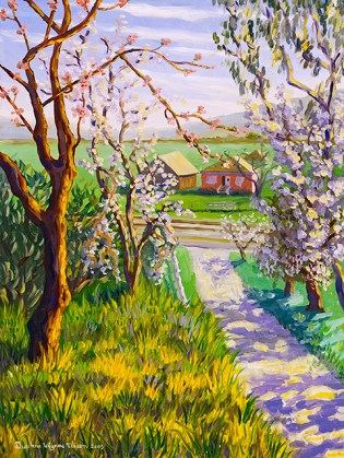 """""""The Almond Trees in Old Cordelia"""" by Daphne Wynne Nixon, 2004"""