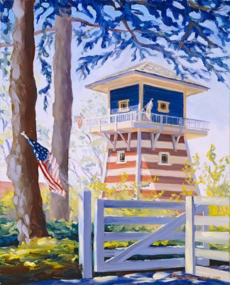 """""""Red, White, and Blue Tank House"""" by Daphne Wynne Nixon"""