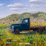 """""""Weeds on the Truck Bed"""", oil, by Daphne Wynne Nixon"""