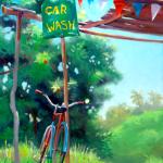 """""""Car Wash"""", oil by Daphne Wynne Nixon"""