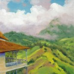 """Blue Mountain Mist"" oil, 9″ x 12″ by Daphne Wynne Nixon"