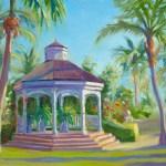 """""""Rose Hall Gazebo"""", 11″ x 14″, oil by Daphne Wynne Nixon"""